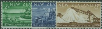 NZ SG772-4 Centenary of Marlborough Province set of 3